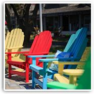 Breezesta's most popular selling Adirondack chair selction is now complete with new items including 7 relaxed styles in 20 vibrant colors.The simplistic design of Breezesta makes it a versatile collection at home in any setting- porch, patio or pool and it's built strong enough for commercial use, too. A full line of Breezesta's Shoreline Chair or Rocker, Fanback Chair or Rocker, Right or Left Windsail Chair, Royale Chair or Folding Chairs are offered.