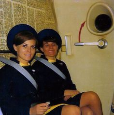 rel='nofo... #stewardess #goldenage #hostess I so remember those days. They made flying fun.