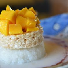An easy, no bake, modern take on the traditional Thai dessert, sticky rice and mango