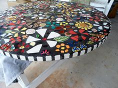 SOLD 36 Piece made MOSAIC TABLE Top / Direct by JustAboutYou