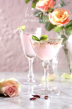 Sweet, fragrant and tart - this rose, lime and gin martini is the perfect Valentine's Day tipple!