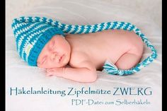 **Häkle eine supersüße Zipfelmütze für den neuen Erdenbürger!**  Das ideale Mützchen für ganz besonders süße erste Baby-Fotos.  _Babyfotos mit freundlicher Genehmigung von Monika...