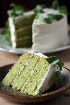 This Sweet Vanilla Pea Cake tastes like a vanilla cake but its green! The flavor of the peas fades away in this vegetable cake. Its topped with a zingy lemon frosting and a halo of pea shoots for decoration. You'll love trying vegetables in desserts! Veggie Cakes, Vegetable Cake, Cupcake Recipes, Cupcake Cakes, Dessert Recipes, 6 Cake, Cupcakes, Cake Icing, Lemon Buttercream