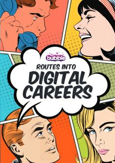 The Bubble Digital Career Portal is your one-stop shop for free advice and information on the top careers and jobs available in the digital industry. Art Careers, Free Advice, Digital Media, Bubbles, Business, Store, Business Illustration