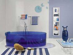 banheiro azul pastilha