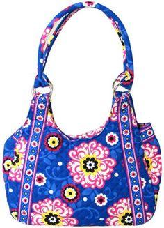 Stephanie Dawn Hobo - Sea Blossom - New Quilted Handbag USA 10034-016