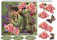 Natures Perfume The Rose Topper Decoupage on Craftsuprint - Add To Basket!