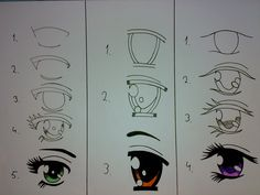 How to draw different anime eyes!