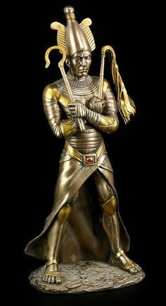 Osiris was one of the chief deities of ancient Egypt and considered the empire's first ruler. Egyptian Mythology, Egyptian Symbols, Egyptian Goddess, Egyptian Art, Ancient Egypt Art, Ancient Aliens, Ancient History, European History, Ancient Artifacts
