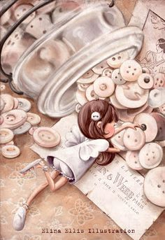 Elina Ellis Illustration: Pearl Buttons Fairy