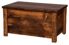 Weathered Pine Blanket Chest