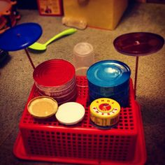 Handmade toddlers drum kit! #diy #toys #handmade #ashleigholynnart