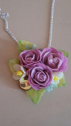 Cold Porcelain Minimal Collier Necklace  Bride by WorldOfIrena