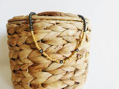 BOUTIQUE @folledejoie_ sur INSTAGRAM Collier ras-de-cou perles dorées et onyx noir VENDU ❤❤❤❤❤