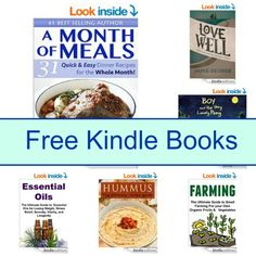 Free Kindle Book List: A Month Of meals, Love Well, Farming, and More