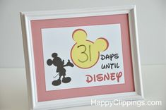 Disney Vacation Countdown – Free Printable | HappyClippings.com