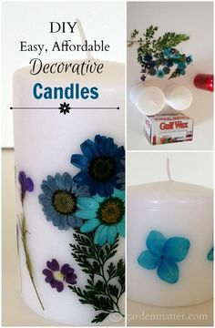 Learn how easy it is to turn dollar store candles into works of art.