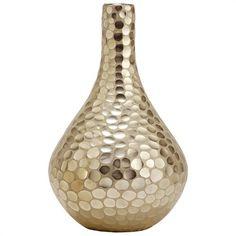 tortoise silver glass vase