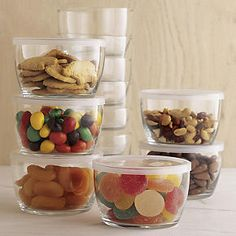 Set of 12 Storage Bowls With Clear Lids - $19.95 | Crate and Barrel