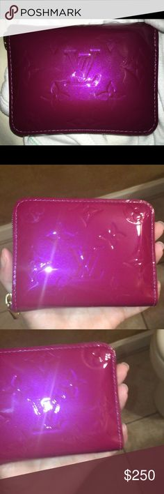 Authentic Louis Vuitton Magenta Wallet Good condition, one scratch only noticeable under certain lighting Bags Wallets