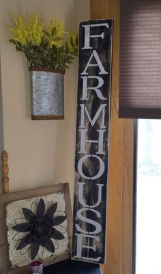Large Farm House Rustic Kitchen Fixer Upper Style Wood Sign Farmers Market House #subwaysign