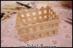 Popsicle Stick Craft Tutorial   White Picket Fence Make Up Box