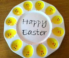 Ceramic Easter Deviled Egg Plate  Ceramic by ShadyLaneCeramics, $35.00