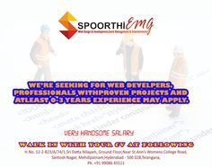 we are seeking for web developer with good salary.. come with cv