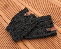 Boot cuffs women - Boot cuff cable pattern -Boot cuffs crochet -Boot cuff sock Winter boot socks -Boot toppers -Gift for