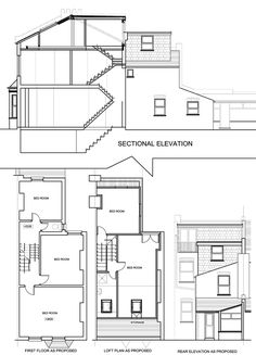 l shaped loft conversion with 2 bed and en suite plans - Google Search