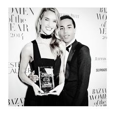 Rosie Huntington-Whiteley @rosiehw | Websta (Webstagram) rosiehw Thrilled to be honoured by @bazaaruk as one of their Women Of The Year! Thank you to @olivier_rousteing for presenting to me! #BazaarUK #WomenOfTheYear