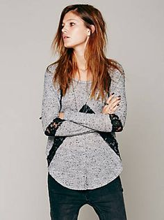 Free People We The Free Flying V Hacci, $78.00