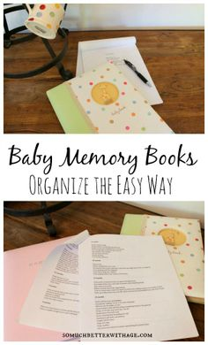 organize your baby memory books