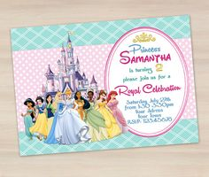 Hey, I found this really awesome Etsy listing at https://www.etsy.com/listing/188915023/disney-princess-birthday-invitation