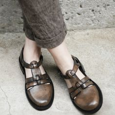 Handmade Leather Shoes 50 OFF by KiMiLab on Etsy, $99.00