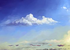 Clouds tutorial by Hangmoon on DeviantArt Cloud Tutorial, Texture Painting, Painting Clouds, Drawing Process, Painted Stairs, Painting Tools, Sky, Deviantart, Outdoor