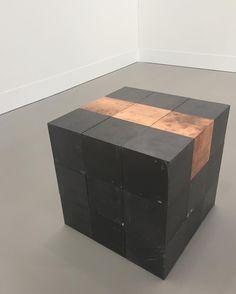 Carl Andre cube in lead and copper at Galerie Greta Meert #galeriegretameert #carlandre #artbasel2016
