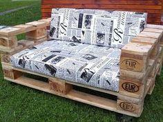 blog de design interior: Mobilier pentru grădină și balcon din paleti Carpentry Projects, Design Interior, Outdoor Furniture, Outdoor Decor, Toddler Bed, Bedroom, Diy, Furnitures, Home Decor