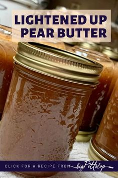 With the warm flavors of fall spices, this Slow Cooker Spiced Pear Butter is a perfect treat for homemade biscuits or a simple piece of toast. Lighted up with sugar alternatives, and essential oils to bring about more flavor. I use wild pears from a tree in my papa's back yard, but grocery store pears would work as well. #applebutter #fallfruitrecipes #pearrecipes #whattodwithpears #fruitspread Skinny Recipes, Ww Recipes, Fall Recipes, Pear Butter, Apple Butter, Apple Pie Spice, Pumpkin Spice, Spiced Pear, Fall Fruits