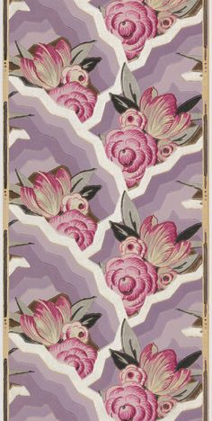 French wallpaper, 1925.....I wouldn't have this on a wall but I quite like the…