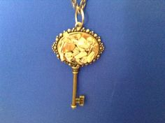 Antique bronze skeleton key necklace by CutesyandFun on Etsy