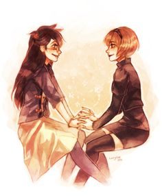 <3 Jade and Rose <3 #Homestuck- while not as close as Roxy and Jane still great pair of sisters <3