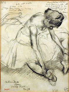 Melina Darde to Edgar (Hilaire Germain) Degas (de Gas) we manufacture for you on watercolor paper, canvas or poster paper. Degas Drawings, Degas Paintings, Art Drawings, Drawing Portraits, Edgar Degas, Human Figure Drawing, Life Drawing, Dancer Drawing, Travel Sketchbook