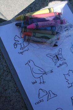 Nature Scavenger Hunt- use for kids who can't read. Items to take photos of.