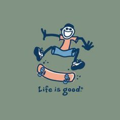 Life is Good Boy's Giant Fly Skateboard