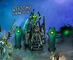 Warhammer 40k Memes, Warhammer 40000, Necron Army, Fantasy Model, Paint Schemes, Painting Tips, Egyptian, Models, Art