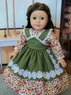 American Girl Mid 1800s Apron Gown/ Clothes for Marie-Grace, Cecile or Addy