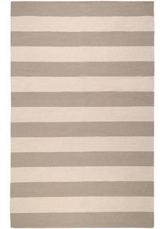 Frontier Stripes Gray Hand Woven Wool Rug SUFT51 #LGDreamFoyer