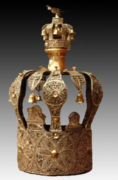 The crown pictured below is from the Samuel Fisher Collection and was presented to the Miller Museum by the Jewish community of Ponca City, Oklahoma. -