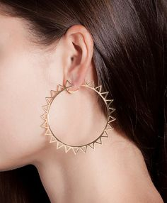 Jack Vartanian - 'Argola Edgy' 18K Gold Hoop Earrings